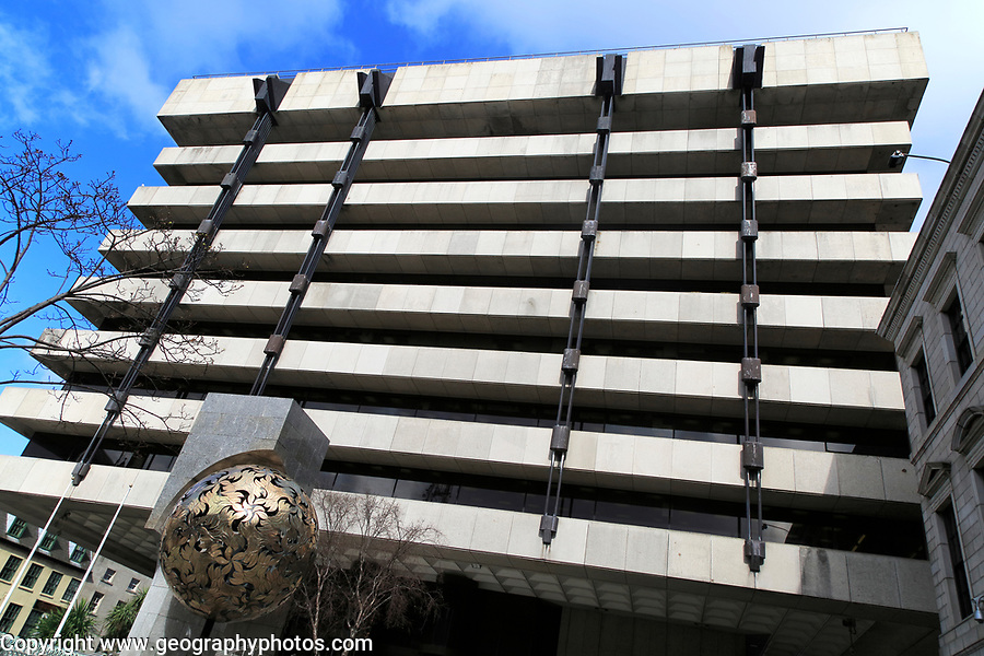 Modern architecture office block, Central Bank of Ireland building, city of Dublin, Ireland, Irish Republic