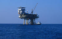Oil Rig off the coast of Santa Barbara, California.