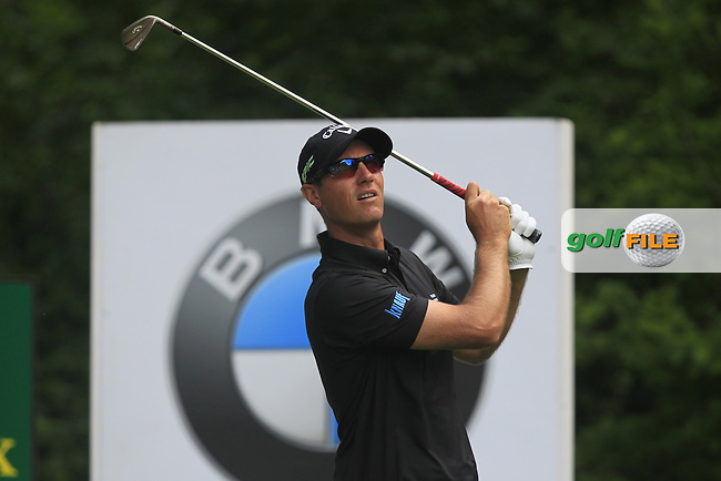 Nicolas Colsaerts (BEL) on the 5th tee during Round 1 of The BMW PGA Championship  at Wentworth Golf Club on Thursday 25th May 2017.<br /> Photo: Golffile / Thos Caffrey.<br /> <br /> All photo usage must carry mandatory copyright credit     (&copy; Golffile | Thos Caffrey)