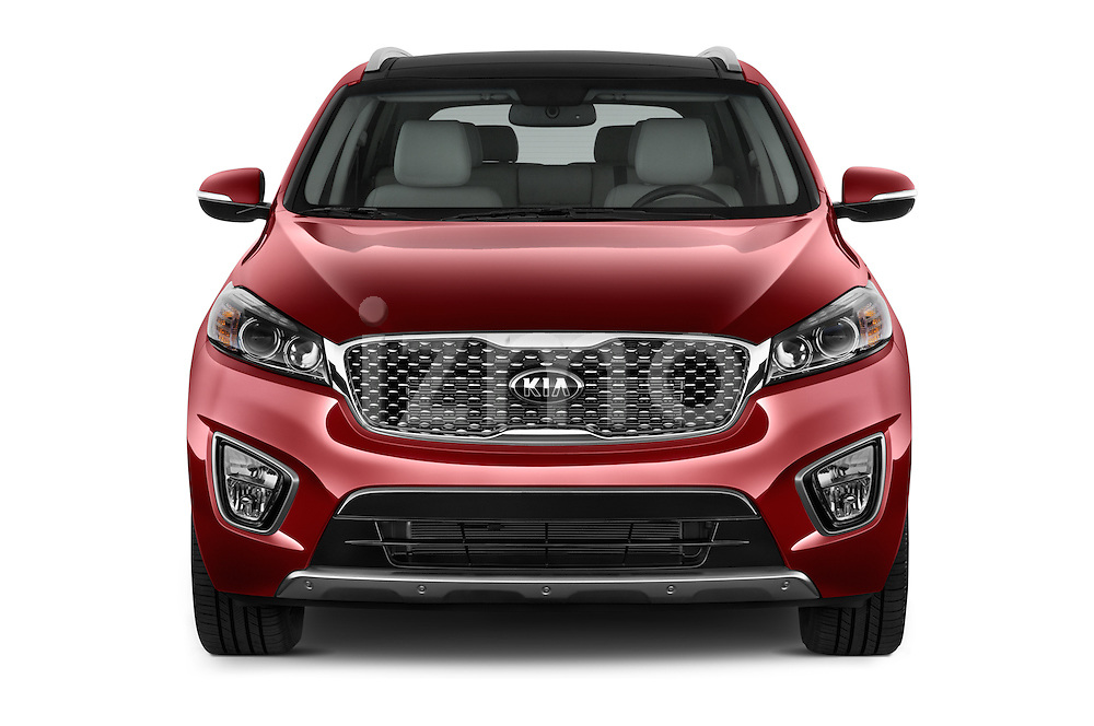 Car photography straight front view of a 2017 KIA Sorento SX V6 AT 4WD 5 Door SUV Front View