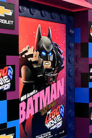 """LOS ANGELES - FEB 2:  Lego movie, poster, atmosphere at """"The Lego Movie 2: The Second Part"""" Premiere at the Village Theater on February 2, 2019 in Westwood, CA"""
