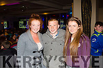 Shauna Sheehy, Patrick Smith and Ciara Riordan from Abbeyfeale pictured last Saturday night in The Devon Inn Templeglantine for The Kube fundraising event for Abbeyfeale FC