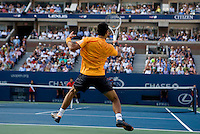 Novak Djokovic (SRB) (4) against Roger Federer (SUI) (1) in the Semifinals. Federer beat Djokovic 7-6 7-5 7-5..International Tennis - US Open - Day 14  Sun 13 Sep 2009 - USTA Billie Jean King National Tennis Center - Flushing - New York - USA ..© Frey Images, Barry House, 20-22 Worple Road, London, SW19 4DH.Tel - +44 20 8947 0100.Cell - +44 7843 383 012.Email - mfrey@advantagemedianet.com