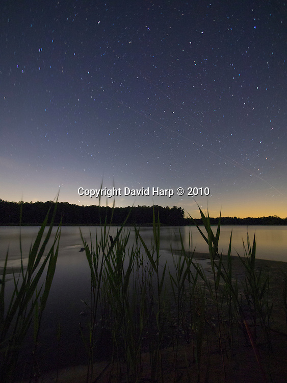 Starry night near the mouth of Raccoon Creek, Choptank River