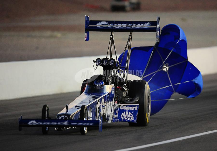 Oct. 28 2011; Las Vegas, NV, USA: NHRA top fuel dragster driver Brandon Bernstein during qualifying for the Big O Tires Nationals at The Strip at Las Vegas Motor Speedway. Mandatory Credit: Mark J. Rebilas-