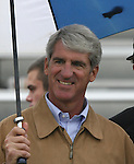 Duke Athletic Director Joe Alleva watches the game, as his daughter Jenny Alleva (not pictured) played the final regular season home game of her NCAA career on Sunday, October 22nd, 2006 at Koskinen Stadium in Durham, North Carolina. The Duke Blue Devils defeated the Florida State University Seminoles 3-1 in an Atlantic Coast Conference NCAA Division I Women's Soccer game.