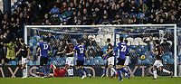 Bolton Wanderers' concede a goal scored by Sheffield Wednesday's Tom Lees (not shown) <br /> <br /> Photographer Andrew Kearns/CameraSport<br /> <br /> The EFL Sky Bet Championship - Sheffield Wednesday v Bolton Wanderers - Tuesday 27th November 2018 - Hillsborough - Sheffield<br /> <br /> World Copyright &copy; 2018 CameraSport. All rights reserved. 43 Linden Ave. Countesthorpe. Leicester. England. LE8 5PG - Tel: +44 (0) 116 277 4147 - admin@camerasport.com - www.camerasport.com