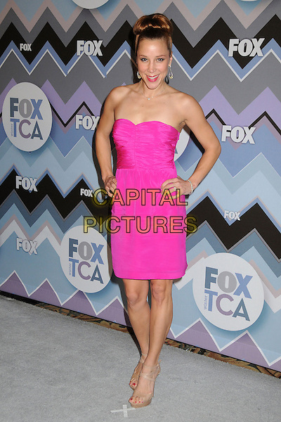 Becky Baeling.FOX All-Star Party TCA Winter 2013 Press Tour held at the Langham Huntington Hotel and Spa, Pasadena, California, USA..January 8th, 2013.full length pink strapless dress hands on hips.CAP/ADM/BP.©Byron Purvis/AdMedia/Capital Pictures.