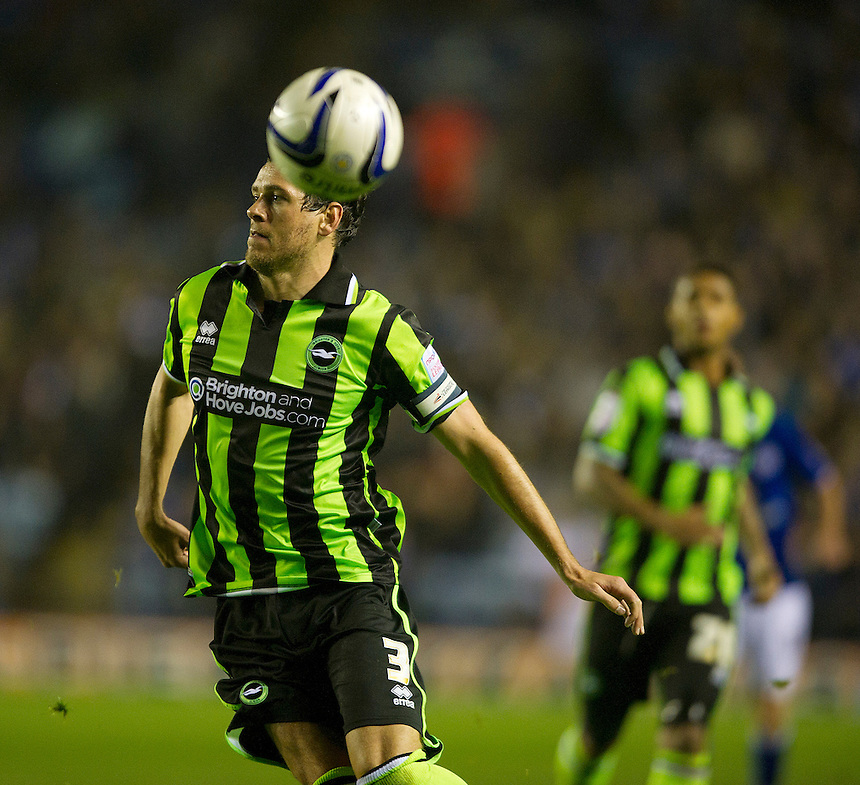 Brighton and Hove Albion's Gordon Greer ..Football - npower Football League Championship - Leicester City v Brighton and Hove Albion - Tuesday 23rd October 2012 - King Power Stadium - Leicester..