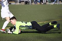 Jannis Weidner (Unter-Flockenbach) hatte in Büttelborn eine Menge zu tun - 25.02.2018: SKV Büttelborn vs. SV Unter-Flockenbach, Gruppenliga Darmstadt