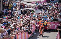 Michal Schlegel (CZS/CCC-Sprandi Polkowice) stooping for autographs on his way to sign-on<br /> <br /> Stage 20: Pordenone › Asiago (190km)<br /> 100th Giro d'Italia 2017