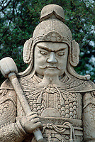 China, Peking (Beijing) Minggräber, Geisterallee, Militärmandarin, Unesco-Weltkulturerbe