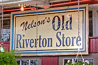 The old Riverton Store has been in operation since 1925 and has operated under several names.  Origianlly a Standard gas station, &quot;Williams Store&quot; then &quot;Eisler Brothers&quot; and now Nelson's Old Riverton Store.<br /> <br /> The store remains much the same as it always has and is a route 66 landmark and gift shop.