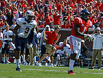 A.J. Brown runs the ball down the field for a touchdown during the game against UT Martin Sat., Sept. 9, 2017. Ole Miss wins 45-23. Photo by Marlee Crawford/Ole Miss Communications