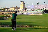 Patrick Reed (USA) in the 18th fairway during the 1st round of the DP World Tour Championship, Jumeirah Golf Estates, Dubai, United Arab Emirates. 15/11/2018<br /> Picture: Golffile | Fran Caffrey<br /> <br /> <br /> All photo usage must carry mandatory copyright credit (© Golffile | Fran Caffrey)