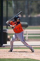 San Francisco Giants Orange third baseman Cody Brickhouse (6) at bat during an Extended Spring Training game against the Oakland Athletics at the Lew Wolff Training Complex on May 29, 2018 in Mesa, Arizona. (Zachary Lucy/Four Seam Images)