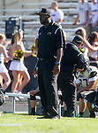 Palos Verdes, CA 09/25/15 - Peninsula coach  in action during the Lawndale - Palos Verdes Peninsula Varsity football game at Peninsula High School.