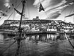 The quayside and rigging at Whitby harbour