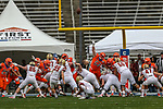 Boston College in action during the Servpro First Responder Bowl game between Boise State Broncos and Boston College Eagles at the Cotton Bowl Stadium in Dallas, Texas.
