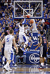 Freshman forward Nerlens Noel dunks the ball during the first half of the Men's Basketball game vs. Samford at the Rupp Arena in Lexington, Ky., on Tuesday, December 4th, 2012..