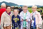 Catriona O'Shea, Ciara O'shea, Mae O'Shea and Bridget Purcell looking for a winner at the Killlarney Races on Monday evening
