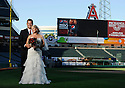 20 August 2010: Wedding images of Marc Hunt and Christine McDonald at Angels Stadium in Anaheim, CA.