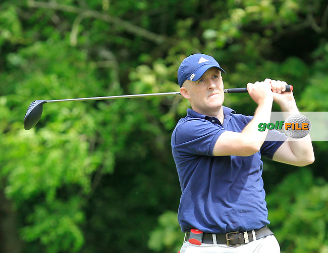 Ronan Maher (Mullingar) on the 14th tee during Round 2 of the Irish Mid-Amateur Open Championship at New Forest on Saturday 20th June 2015.<br /> Picture:  Thos Caffrey / www.golffile.ie