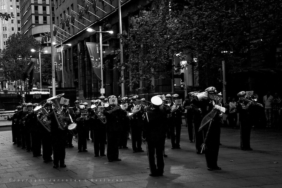ANZAC DAY Sunset, Service The Cenotaph, Sydney 2010