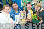 Easter sales: Sinead Walsh and Aoife Keogh of the Brothers of Charity with service users Norman Leahy and Sean Donovan displaying some of their crafts on sale at the Abbeyfeale Farmers Market on Friday.