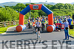 At the start of the Pedal In The Park event from Tralee Bay Wetlands on Friday evening