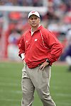 MADISON, WI - SEPTEMBER 9: Assistant coach Dave Doeren of the Wisconsin Badgers watches his team during warmups prior to the game against the Western Illinois Leathernecks at Camp Randall Stadium on September 9, 2006 in Madison, Wisconsin. The Badgers beat the Leathernecks 34-10. (Photo by David Stluka)