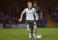 Ben Pringle of Fulham in action during the Capital One Cup match between Wycombe Wanderers and Fulham at Adams Park, High Wycombe, England on 11 August 2015. Photo by Andy Rowland.