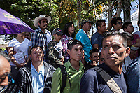 June 11, 2018: Supporters of Andres Manuel Lopez Obrador, an opposition candidate of MORENA party running for presidency (not-pictured), attend his campaign rally at Las Margaritas' municipality in Chiapas, Mexico. National elections will be hold on July 1.