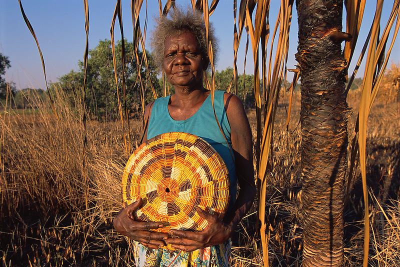 Hersey Yunkaporta, basketweaver, Aurukun, Cape York Peninsula.