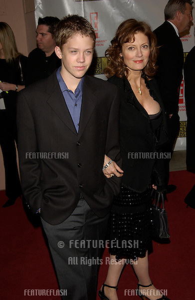 Actress SUSAN SARANDON & son at the Broadcast Film Critics 8th Annual Critics' Choice Awards at the Beverly Hills Hotel..17JAN2003. .© Paul Smith / Featureflash