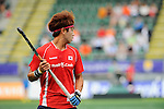 The Hague, Netherlands, June 10: Moonkyu Kang #13 of Korea looks on during the field hockey group match (Men - Group B) between Germany and Korea on June 10, 2014 during the World Cup 2014 at Kyocera Stadium in The Hague, Netherlands. Final score 6-1 (3-0) (Photo by Dirk Markgraf / www.265-images.com) *** Local caption ***
