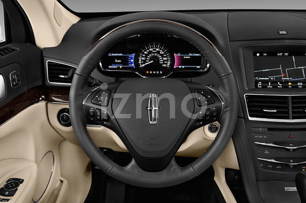 Car pictures of steering wheel view of a 2018 Lincoln MKT Reserve 5 Door SUV