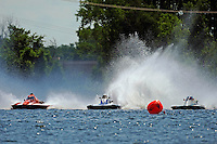 "(L to R): Tom Bergman, A-8, Kevin Kreitzer, A-64 ""Blue Devil"" and Alexis Weber, A-7 ""Southern Magic""  (2.5 MOD class hydroplane(s)"