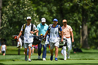 Rickie Fowler (USA) makes his way to the tee on 4 during Rd4 of the 2019 BMW Championship, Medinah Golf Club, Chicago, Illinois, USA. 8/18/2019.<br /> Picture Ken Murray / Golffile.ie<br /> <br /> All photo usage must carry mandatory copyright credit (© Golffile | Ken Murray)