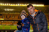 3rd November 2017, Molineux, Wolverhampton, England; EFL Championship football, Wolverhampton Wanderers versus Fulham; Wolverhampton Wanderers fans arrive early waiting for the game to start