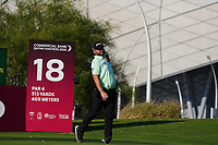 Andy Sullivan (ENG) on the 18th during Round 1 of the Commercial Bank Qatar Masters 2020 at the Education City Golf Club, Doha, Qatar . 05/03/2020<br /> Picture: Golffile | Thos Caffrey<br /> <br /> <br /> All photo usage must carry mandatory copyright credit (© Golffile | Thos Caffrey)