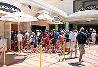 Line to get into the Encore Beach Club at Encore Casino and Resort. Las Vegas, Nevada, USA