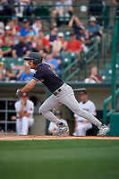 Scranton/Wilkes-Barre RailRiders Mike Tauchman (12) at bat during an International League game against the Rochester Red Wings on June 24, 2019 at Frontier Field in Rochester, New York.  Rochester defeated Scranton 8-6.  (Mike Janes/Four Seam Images)