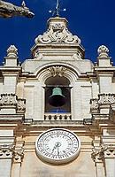 MLT, Malta, Mdina: einer der beiden Tuerme der St. Peter und Paul Kathedrale | MLT, Malta, Mdina: one of two towers of St. Peter and Paul cathedral
