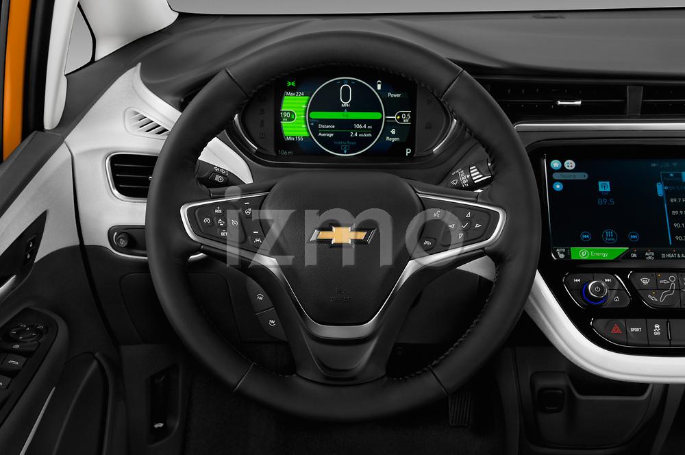 Car pictures of steering wheel view of a 2017 Chevrolet Bolt-EV Premier 5 Door Hatchback Steering Wheel