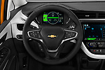 Car pictures of steering wheel view of a 2017 Chevrolet Bolt-EV Premier 5 Door Hatchback Steering Wheel