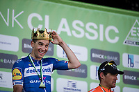 race winner Zdenek Stybar (CZE/Deceuninck Quick Step) being crowned.. <br /> <br /> <br /> <br /> 62nd E3 Harelbeke 2019 (1.UWT)<br /> Harelbeke – Harelbeke: 203,9km<br /> ©kramon
