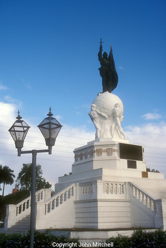 Balboa Monument or Monumento Vasco Nunez de Balboa in Panama City, Panama