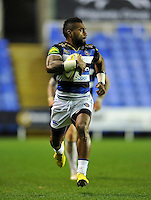 Niko Matawalu of Bath Rugby runs in a late try. Aviva Premiership match, between London Irish and Bath Rugby on November 7, 2015 at the Madejski Stadium in Reading, England. Photo by: Patrick Khachfe / Onside Images