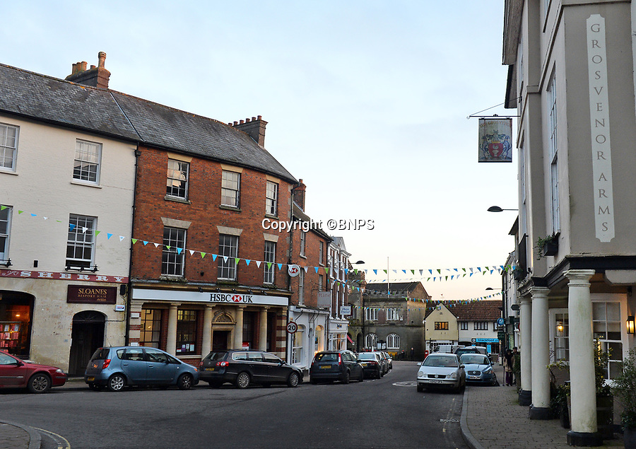 BNPS.co.uk (01202 558833)<br /> Pic: BNPS<br /> <br /> Pictured: The high street pictured today. Claire Ryley, of the Shaftesbury and District Historical Societ said, 'It is fascinating to see how the high street looked at a time when people took precedence over cars' <br /> <br /> These charming photos reveal everyday life at the turn of the 20th century in a thriving market town later made famous by a TV advert.<br /> <br /> The black and white snapshots of Shaftesbury, Dorset, were taken by Albert Tyler who set up a photography business there in 1901.<br /> <br /> There are various street scenes and also images of the locals in traditional attire, with men in flatcaps and women in bonnets.<br /> <br /> Tyler photographed the busy opening of the town market in 1902, and a garden party where men played croquet.